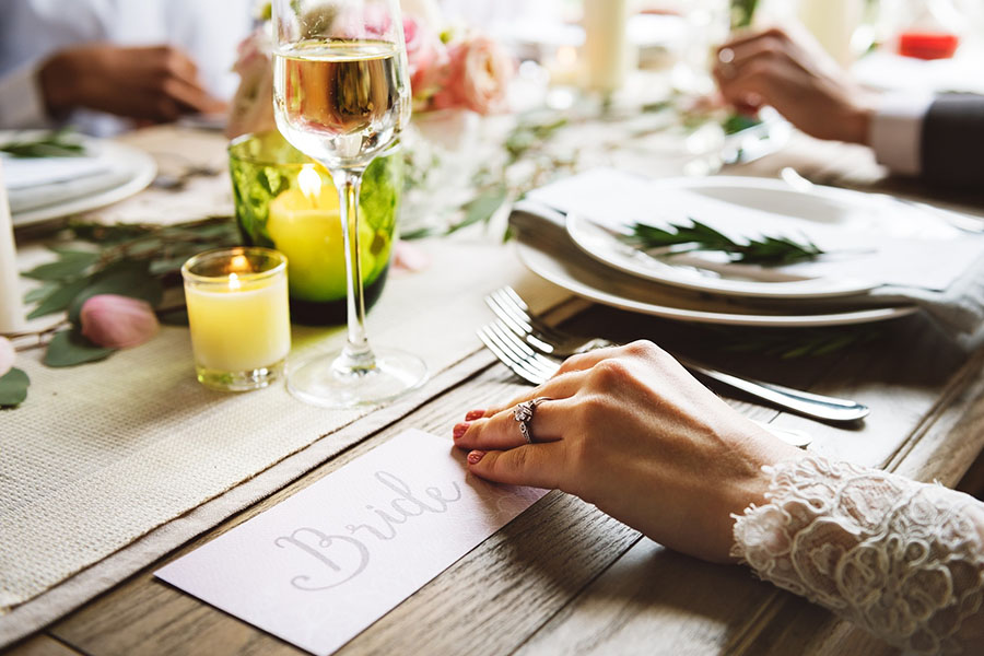 bride placesetting