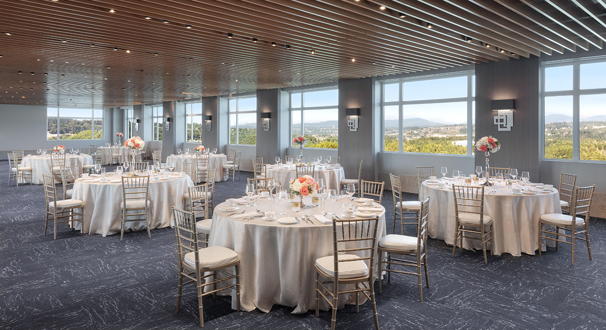 Rainier room wedding tables